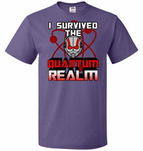 I Survived The Quantum Realm Unisex T-Shirt - Purple / S - T-Shirt