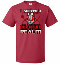 Load image into Gallery viewer, I Survived The Quantum Realm Unisex T-Shirt - True Red / S - T-Shirt