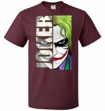 Load image into Gallery viewer, Joker Unisex Youth T-Shirt - Maroon / Youth S - T-Shirt