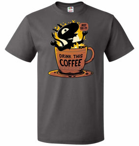 Luci Coffee Unisex T-Shirt - Charcoal Grey / S - T-Shirt