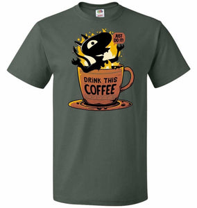 Luci Coffee Unisex T-Shirt - Forest Green / S - T-Shirt