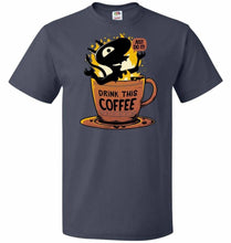 Load image into Gallery viewer, Luci Coffee Unisex T-Shirt - J Navy / S - T-Shirt