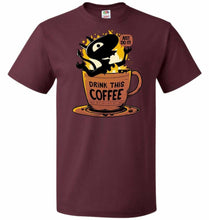 Load image into Gallery viewer, Luci Coffee Unisex T-Shirt - Maroon / S - T-Shirt