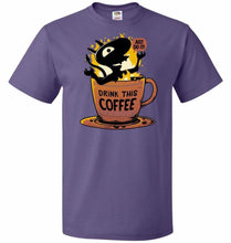 Load image into Gallery viewer, Luci Coffee Unisex T-Shirt - Purple / S - T-Shirt