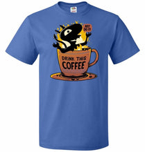 Load image into Gallery viewer, Luci Coffee Unisex T-Shirt - Royal / S - T-Shirt