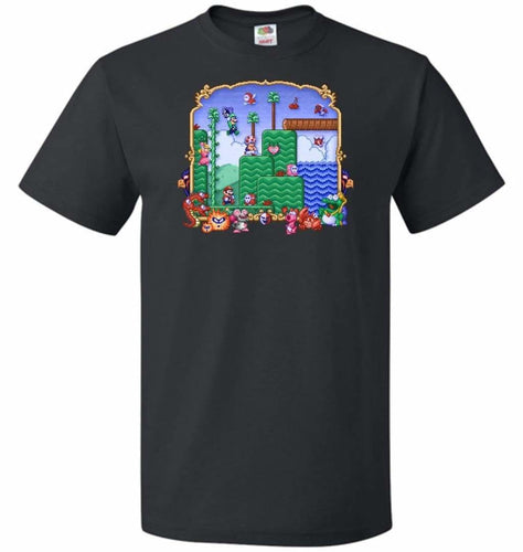 Mario Super Bros Too Unisex T-Shirt - Black / S - T-Shirt