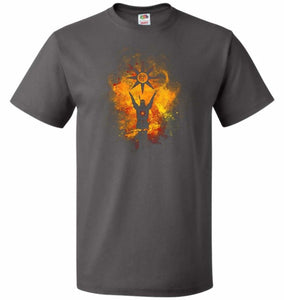 Praise The Sun Art Unisex T-Shirt - Charcoal Grey / S - T-Shirt