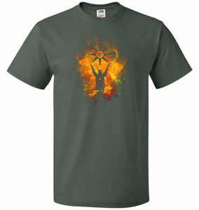Praise The Sun Art Unisex T-Shirt - Forest Green / S - T-Shirt