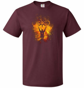 Praise The Sun Art Unisex T-Shirt - Maroon / S - T-Shirt