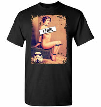 Load image into Gallery viewer, Princess Leia Rebel Unisex T-Shirt - Black / S - T-Shirt