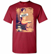 Load image into Gallery viewer, Princess Leia Rebel Unisex T-Shirt - Cardinal / S - T-Shirt