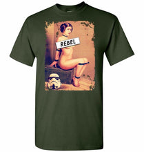 Load image into Gallery viewer, Princess Leia Rebel Unisex T-Shirt - Forest Green / S - T-Shirt