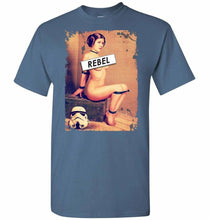 Load image into Gallery viewer, Princess Leia Rebel Unisex T-Shirt - Indigo Blue / S - T-Shirt