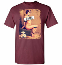 Load image into Gallery viewer, Princess Leia Rebel Unisex T-Shirt - Maroon / S - T-Shirt