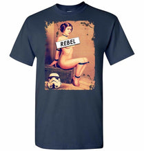 Load image into Gallery viewer, Princess Leia Rebel Unisex T-Shirt - Navy / S - T-Shirt