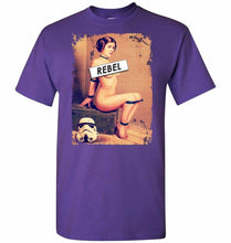 Load image into Gallery viewer, Princess Leia Rebel Unisex T-Shirt - Purple / S - T-Shirt