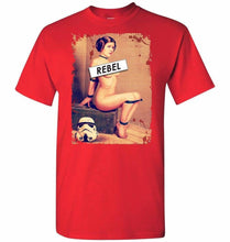 Load image into Gallery viewer, Princess Leia Rebel Unisex T-Shirt - Red / S - T-Shirt