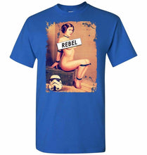 Load image into Gallery viewer, Princess Leia Rebel Unisex T-Shirt - Royal / S - T-Shirt