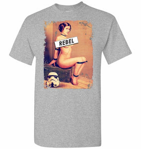 Princess Leia Rebel Unisex T-Shirt - Sports Grey / S - T-Shirt