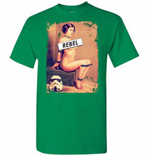 Load image into Gallery viewer, Princess Leia Rebel Unisex T-Shirt - Turf Green / S - T-Shirt