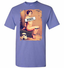 Load image into Gallery viewer, Princess Leia Rebel Unisex T-Shirt - Violet / S - T-Shirt