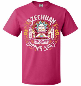 Rick And Morty Szechuan Nugget Dipping Sauce Unisex T-Shirt - Cyber Pink / S - T-Shirt
