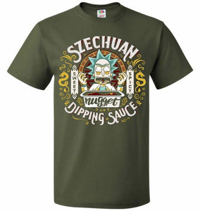 Rick And Morty Szechuan Nugget Dipping Sauce Unisex T-Shirt - Military Green / S - T-Shirt