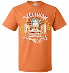 Rick And Morty Szechuan Nugget Dipping Sauce Unisex T-Shirt - Tennessee Orange / S - T-Shirt