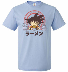 Saiyan Ramen Unisex T-Shirt - Light Blue / S - T-Shirt