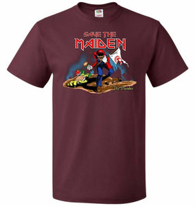 Save The Maiden Unisex T-Shirt - Maroon / S - T-Shirt