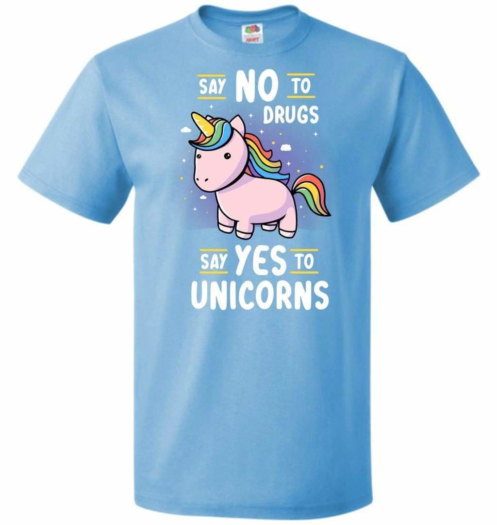 Say No To Drugs Unisex T-Shirt - Aquatic Blue / S - T-Shirt