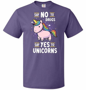 Say No To Drugs Unisex T-Shirt - Purple / S - T-Shirt