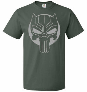 The Black Punisher Unisex T-Shirt - Forest Green / S - T-Shirt