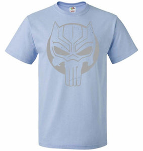 The Black Punisher Unisex T-Shirt - Light Blue / S - T-Shirt