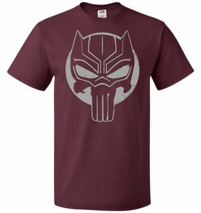 The Black Punisher Unisex T-Shirt - Maroon / S - T-Shirt
