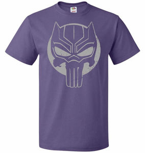 The Black Punisher Unisex T-Shirt - Purple / S - T-Shirt