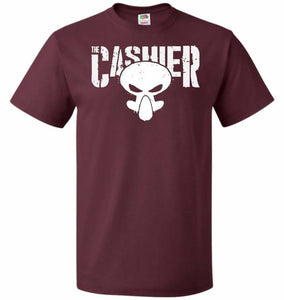 The Cashier Unisex T-Shirt - Maroon / S - T-Shirt
