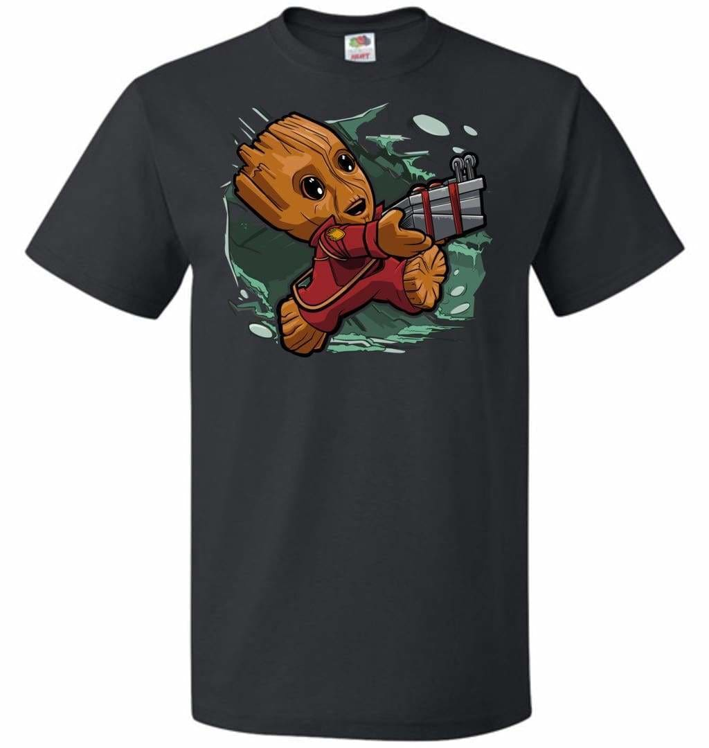 Tiny Groot Unisex T-Shirt - Black / S - T-Shirt
