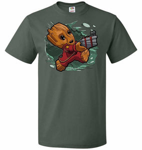 Tiny Groot Unisex T-Shirt - Forest Green / S - T-Shirt