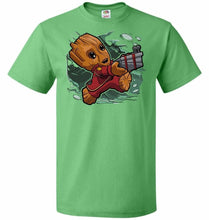 Load image into Gallery viewer, Tiny Groot Unisex T-Shirt - Kelly / S - T-Shirt