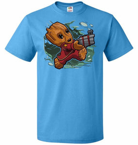 Tiny Groot Unisex T-Shirt - Pacific Blue / S - T-Shirt