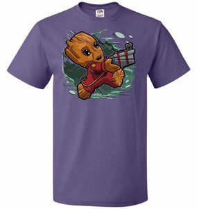Tiny Groot Unisex T-Shirt - Purple / S - T-Shirt