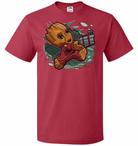 Tiny Groot Unisex T-Shirt - True Red / S - T-Shirt