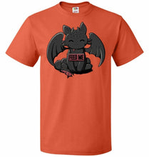 Load image into Gallery viewer, Toothless Feed Me Unisex T-Shirt - Burnt Orange / S - T-Shirt