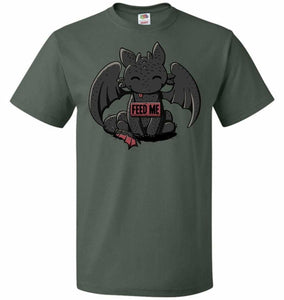 Toothless Feed Me Unisex T-Shirt - Forest Green / S - T-Shirt