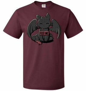 Toothless Feed Me Unisex T-Shirt - Maroon / S - T-Shirt
