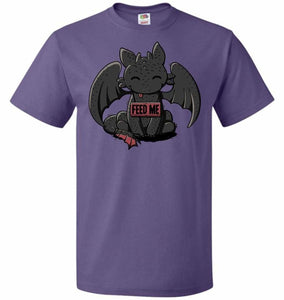 Toothless Feed Me Unisex T-Shirt - Purple / S - T-Shirt