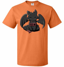 Load image into Gallery viewer, Toothless Feed Me Unisex T-Shirt - Tennessee Orange / S - T-Shirt