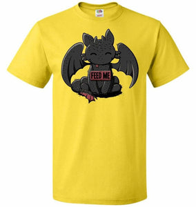 Toothless Feed Me Unisex T-Shirt - Yellow / S - T-Shirt