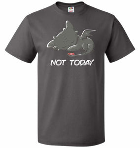 Toothless Not Today Unisex T-Shirt - Charcoal Grey / S - T-Shirt